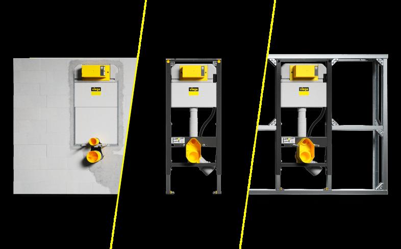 Три варианта монтажа системы Viega